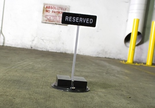 reserved parking spot saver remote controlled car space barrier